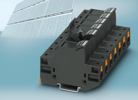 Push-in fuse terminal block for PV applications