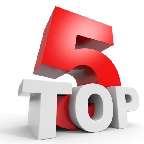 Elva topp 5-listor från konsultåret 2016