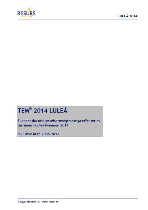 TEM2014 Luleå