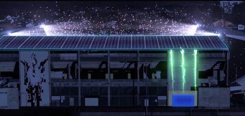 Gigantisk solcelleanlegg på Skagerak Arena