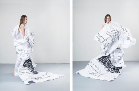 Ekonomipriset till Alfred Nobels minne inspirerade till kvitto-klänning