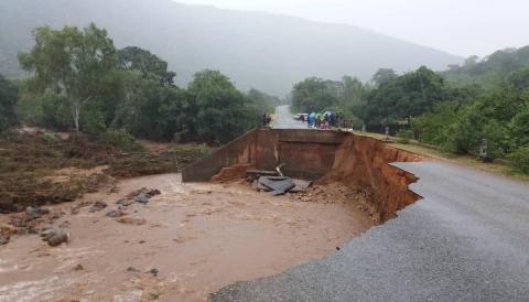 Akutinsatser efter cyklonen Idai
