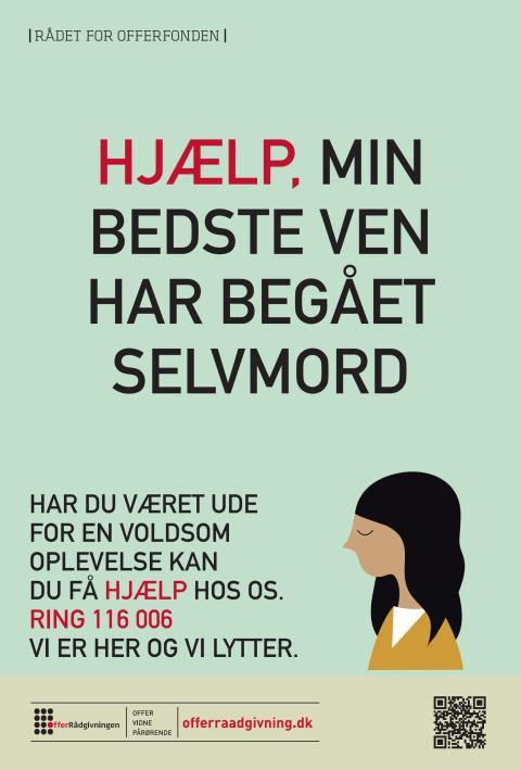 Plakat: Min bedste ven har begået selvmord