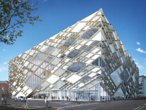 """EuroLam liefert Funktion und Design für """"Diamanten"""": Lamellenfenster für den Neubau der University of Sheffield"""