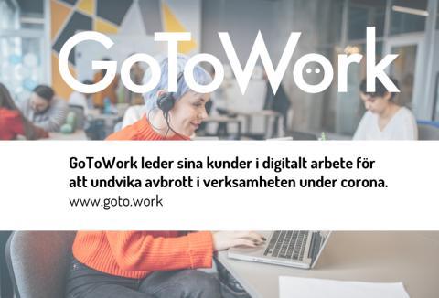 GoToWork leder kunder i digitalt arbete under corona