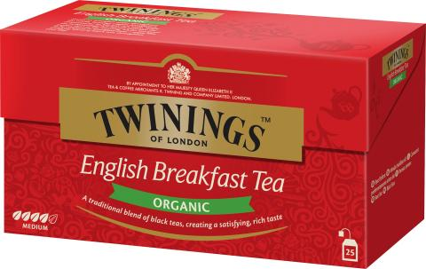 Twinings English Breakfast Organic 25 påsar