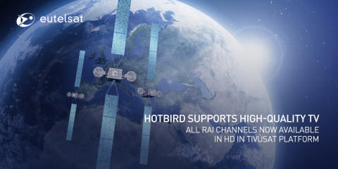HDTV gathers pace at Eutelsat HOTBIRD neighbourhood: all Rai channels now available in HD in Tivùsat platform