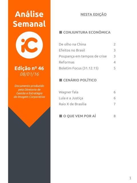 Análise Semanal IC - 08.01.2016
