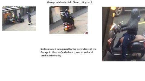 Stolen moped in Macclesfield Street