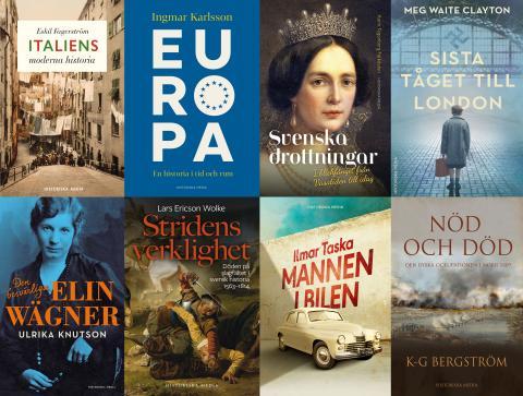 Vårens och sommarens kommande böcker på Historiska Media
