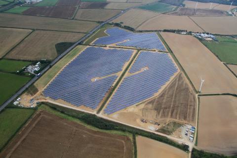 Four Burrows solar park, Cornwall