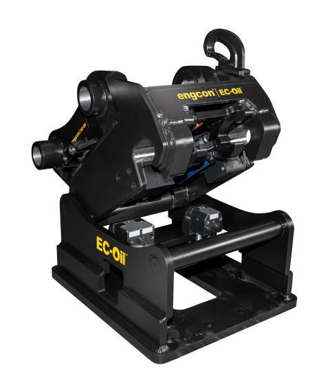 Engcon tilbyder automatisk hurtigskift til gravemaskiner på op til 40 tons