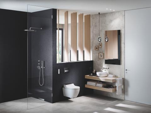 Nu byggs Sveriges modernaste Ekohus  - med smart badrumsteknik från Geberit
