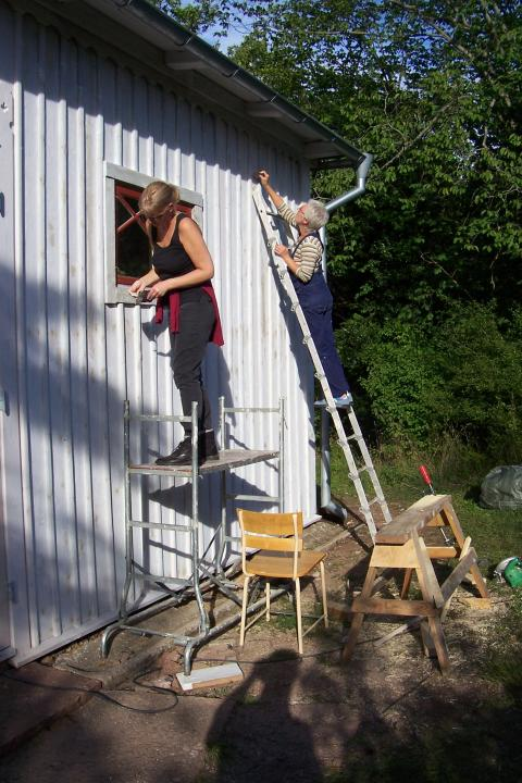 Byggnadsvårdsläger vid Hvita villan 2007