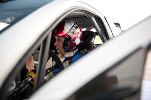 WRC-testfører Hänninen, glimt