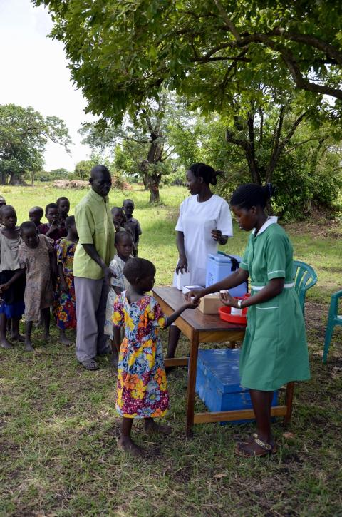Outreach session in a rural village of Amuria district, Uganda.