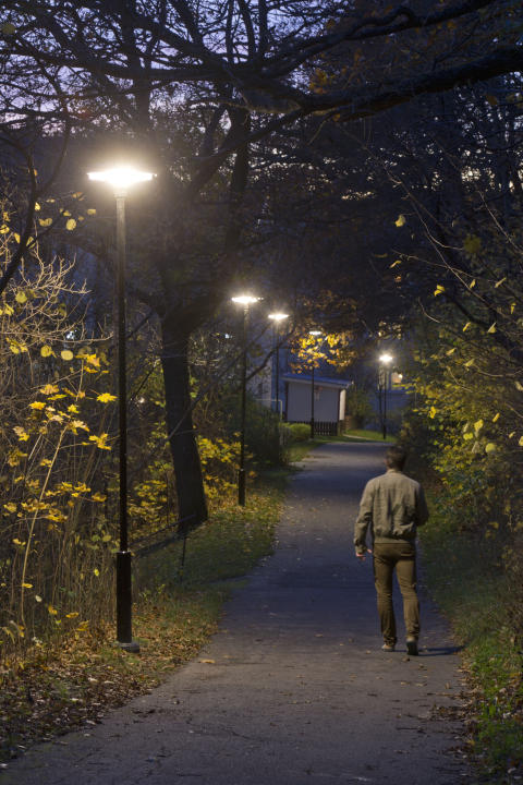 Control of outdoor lighting halves energy consumption