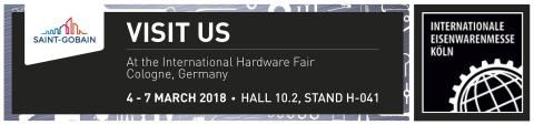 Saint-Gobain Abrasives  stiller ut på årets Eisenwarenmesse - International Hardware Fair 2018