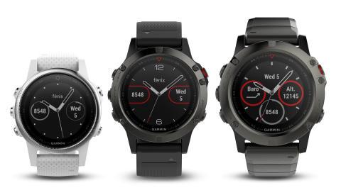 Garmin® presenterar fēnix 5-serien  Multisportklockor för atleter och äventyrare