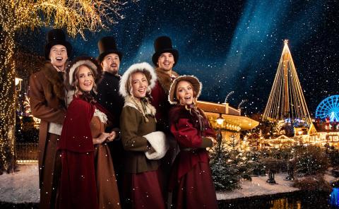 Körsång på Lilla Scenen under Jul på Liseberg