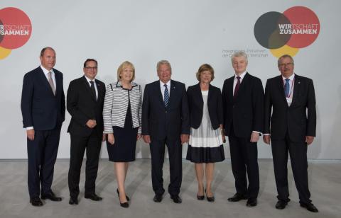 Gauck bei der Initiative WIRZUSAMMEN