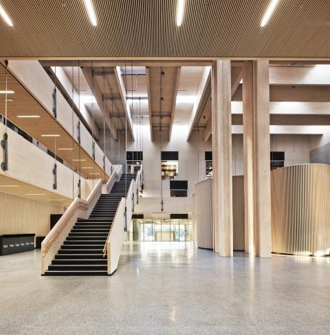 Nord-Österdal skola. Årets träbyggnad i Norge.