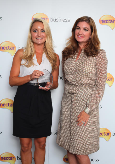 Nectar Business Small Business Award winner Melissa Burton with judge, Karren Brady