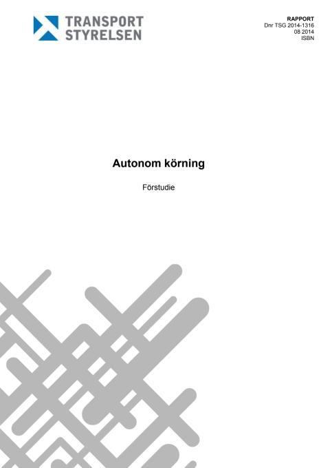 Förstudie om autonom körning
