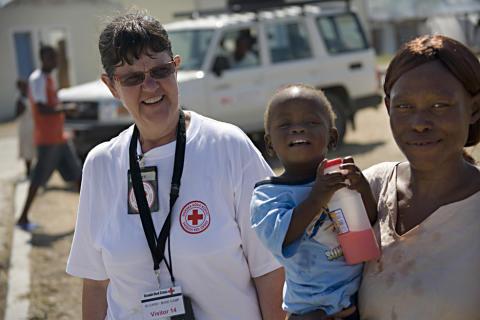Lena Fridman i La Piste Camp i Haiti