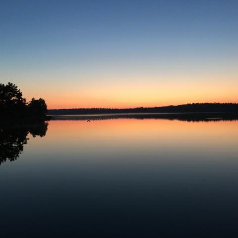 Solnedgång på Åland