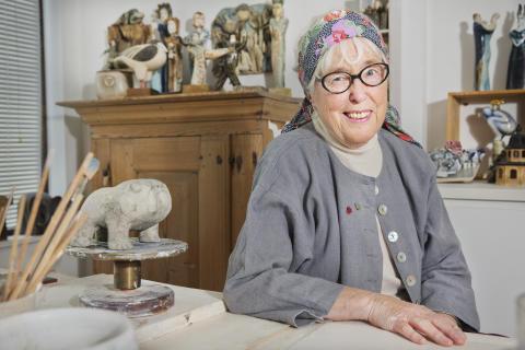 Lisa Larson Hjärt-Lungfondens hjärtepins