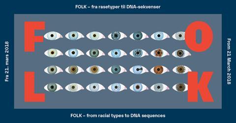 Ny utstilling: FOLK – fra rasetyper til DNA-sekvenser på Norsk Teknisk Museum fra 21. mars.