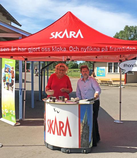 Pop-up turistbyrå på Skara Sommarland