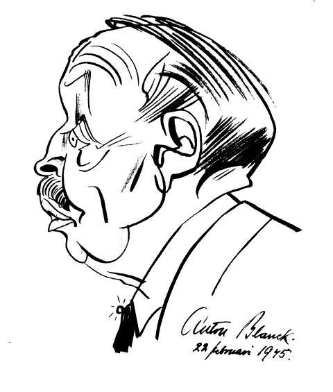 Karikatyr av Anton Blanck.