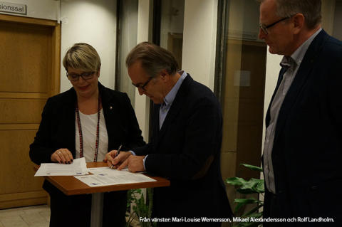 Falkenberg första kommun att skriva intentionsavtal om samverkan med Högskolan i Halmstad
