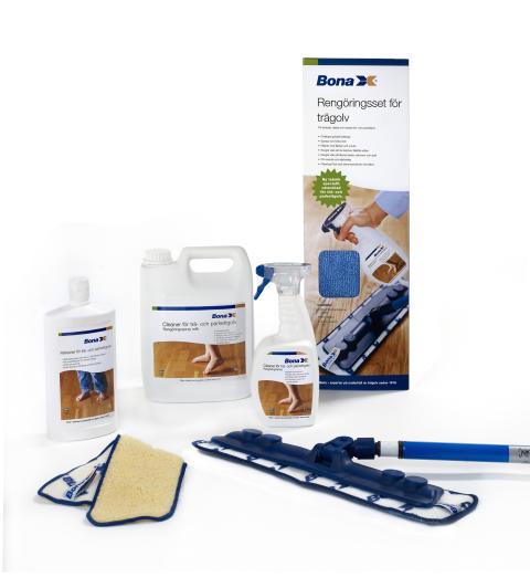 Bonas proffsprodukter för trägolv direkt till konsument: CityGross, Ekohallen och AG:s först med rengörings- och underhållsprodukter för trägolv