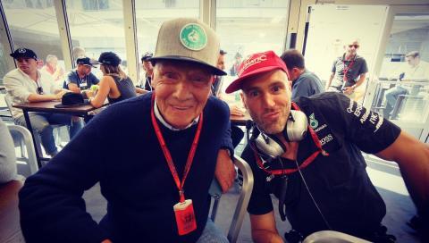 Lauda mit Rosberg VcA-Cap