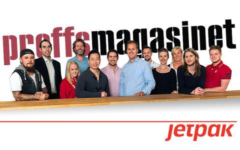 Proffsmagasinet erbjuder hemleverans samma dag med Jetpak
