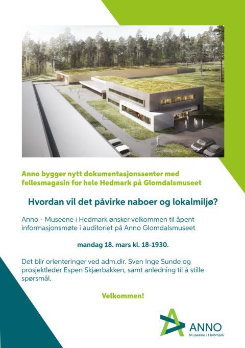 Invitasjon til åpent informasjonsmøte om Anno Dokumentasjonssenter
