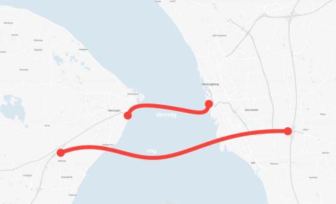 WSP utreder fast förbindelse mellan Helsingör och Helsingborg