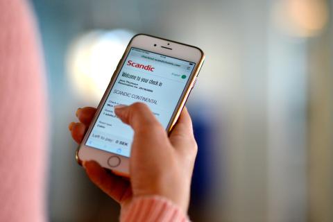Scandic kehittää digitaalisia palveluita ja tulee ottamaan käyttöön sähköisen sisäänkirjautumisen