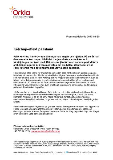 Ketchup-effekt på Island