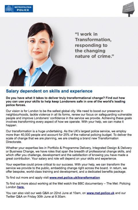Recruitment advert full