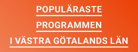 Populäraste gymnasieutbildningarna i Västra Götaland