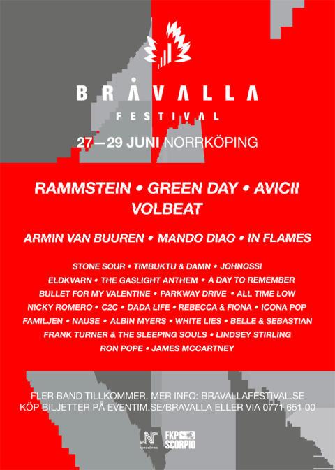 Ny scen och nya artister till Bråvalla Festival