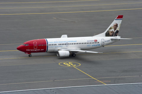 Norwegians UNICEF aircraft
