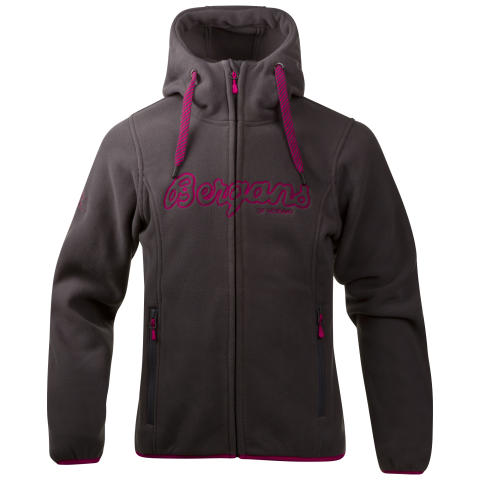 Bryggen Girl Jacket - Solid Dark Grey/Hot Pink