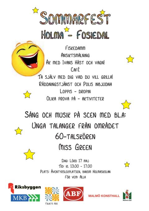 Sommarfest i Holma den 17 maj 2014