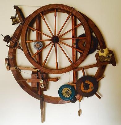 Korsad ord- och bildkonst på Galleri Skeppsta hytta