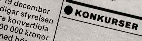 Sverige slår rekord i antal konkurser